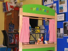 A puppet theatre to feed their imaginations